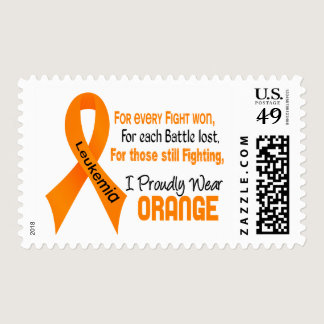 Leukemia I Proudly Wear Orange Postage