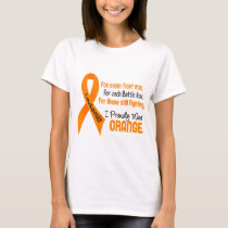 Leukemia I Proudly Wear Orange T-Shirt