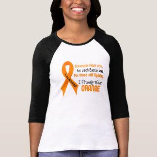 Leukemia I Proudly Wear Orange Shirts