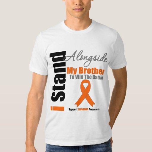 Leukemia I Stand Alongside My Brother T-shirt