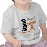 Leukemia I Stand Alongside My Daddy Tee Shirt
