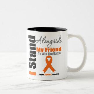 Leukemia I Stand Alongside My Friend Two-Tone Coffee Mug