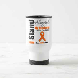 Leukemia I Stand Alongside My Husband 15 Oz Stainless Steel Travel Mug