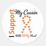 Leukemia I Support My Cousin Stickers