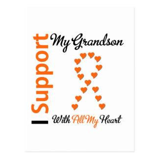 Leukemia I Support My Grandson Postcard
