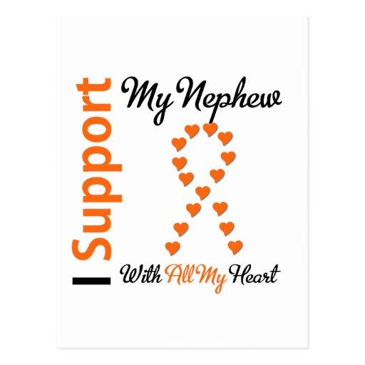 Leukemia I Support My Nephew Postcard