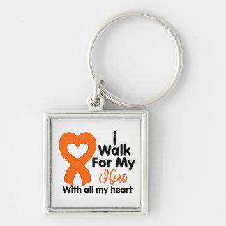 Leukemia I Walk For My Hero Keychain