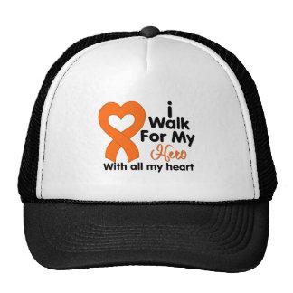 Leukemia I Walk For My Hero Mesh Hats