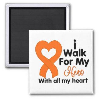 Leukemia I Walk For My Hero Refrigerator Magnet