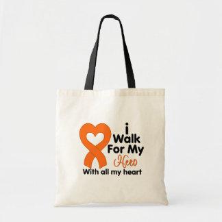 Leukemia I Walk For My Hero Tote Bag