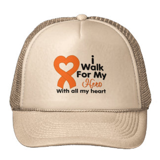 Leukemia I Walk For My Hero Trucker Hat