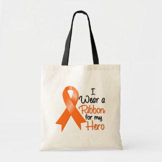 Leukemia I Wear a Ribbon For My Hero Tote Bags