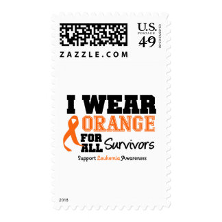 Leukemia I Wear Orange For All Survivors Postage Stamp
