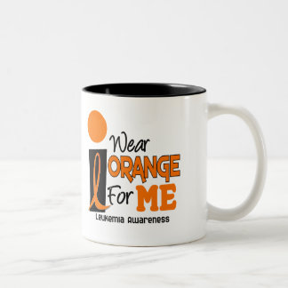 Leukemia I WEAR ORANGE FOR ME 9 Two-Tone Coffee Mug
