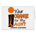 Leukemia I WEAR ORANGE FOR MY AUNT 9 Cards