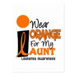 Leukemia I WEAR ORANGE FOR MY AUNT 9 Postcard