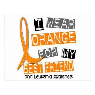 Leukemia I Wear Orange For My Best Friend 37 Postcard
