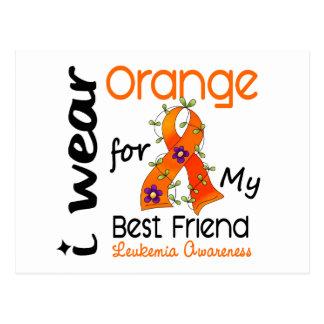 Leukemia I Wear Orange For My Best Friend 43 Postcard
