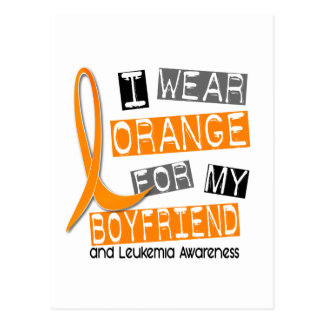 Leukemia I Wear Orange For My Boyfriend 37 Postcard