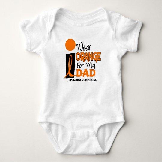 Leukemia I WEAR ORANGE FOR MY DAD 9 Baby Bodysuit