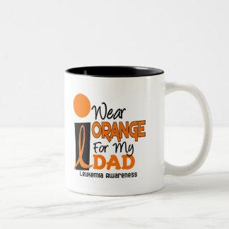 Leukemia I WEAR ORANGE FOR MY DAD 9 Mugs