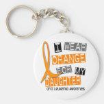 Leukemia I Wear Orange For My Daughter 37 Basic Round Button Keychain