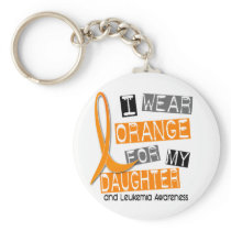 Leukemia I Wear Orange For My Daughter 37 Keychain