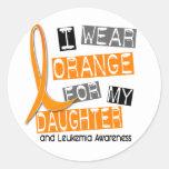 Leukemia I Wear Orange For My Daughter 37 Round Sticker