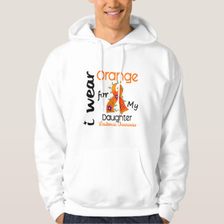 Leukemia I Wear Orange For My Daughter 43 Hoodie