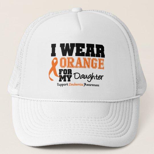 Leukemia I Wear Orange For My Daughter Trucker Hat