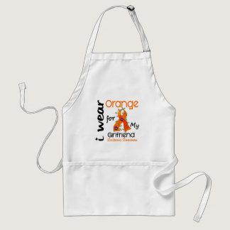 Leukemia I Wear Orange For My Girlfriend 43 Adult Apron