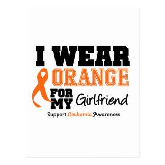 Leukemia I Wear Orange For My Girlfriend Postcard