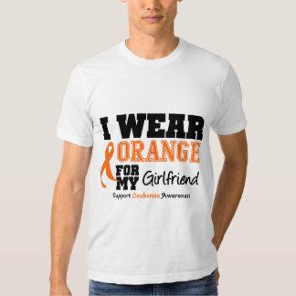 Leukemia I Wear Orange For My Girlfriend T Shirts