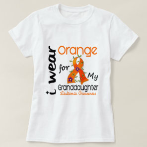 Leukemia I Wear Orange For My Granddaughter 43 T-Shirt