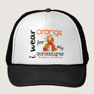 Leukemia I Wear Orange For My Granddaughter 43 Trucker Hat