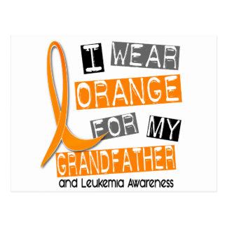 Leukemia I Wear Orange For My Grandfather 37 Postcard