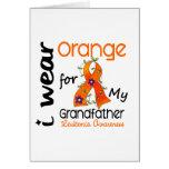 Leukemia I Wear Orange For My Grandfather 43 Greeting Cards