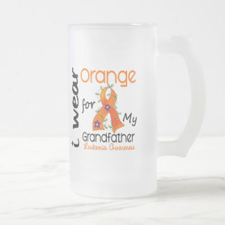 Leukemia I Wear Orange For My Grandfather 43 Mugs