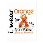 Leukemia I Wear Orange For My Grandfather 43 Post Cards