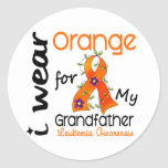 Leukemia I Wear Orange For My Grandfather 43 Sticker