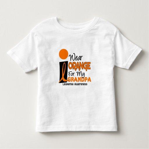 Leukemia I WEAR ORANGE FOR MY GRANDPA 9 Tee Shirt