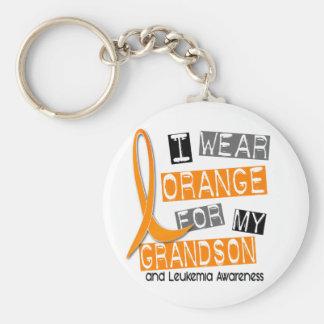 Leukemia I Wear Orange For My Grandson 37 Keychain