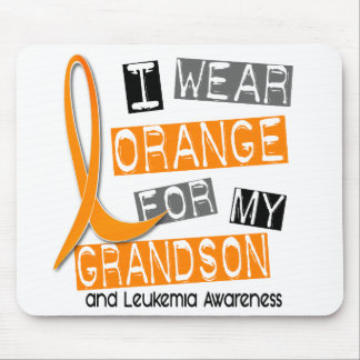 Leukemia I Wear Orange For My Grandson 37 Mouse Pad