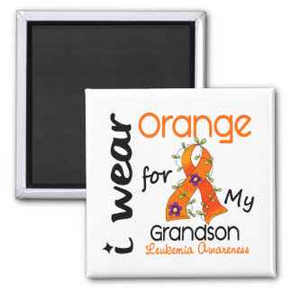 Leukemia I Wear Orange For My Grandson 43 Magnet