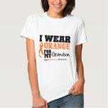 Leukemia I Wear Orange For My Grandson T-Shirt