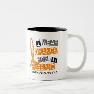 Leukemia I Wear Orange For My Husband 37 Mug