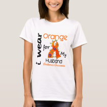 Leukemia I Wear Orange For My Husband 43 T-Shirt