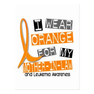 Leukemia I Wear Orange For My Mother-In-Law 37 Postcard