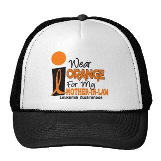Leukemia I WEAR ORANGE FOR MY MOTHER-IN-LAW 9 Hats