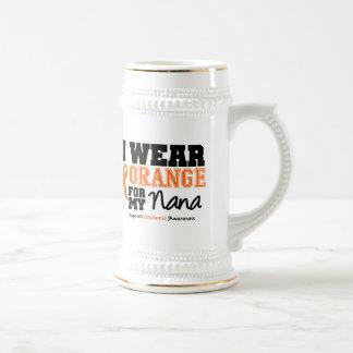 Leukemia I Wear Orange For My Nana Coffee Mugs